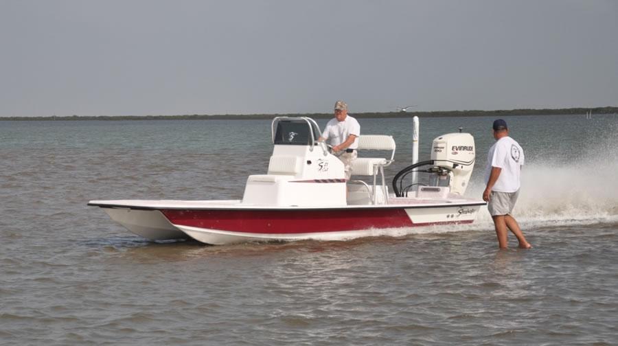 Shoalwater Boats - 21 foot catamaran shallow fishing boat