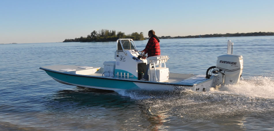 Shoalwater Boats 21 Foot Catamaran Shallow Fishing Boat